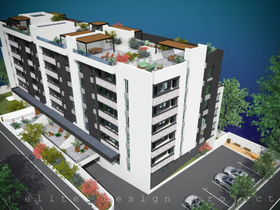 Elvila-2 camere 49,71mp+3,98mp balcon+loc de parcare subteran