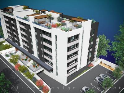 Elvila-3 camere 69,48mp+6,36mp balcon+81,66mp terasa+loc parcare subteran