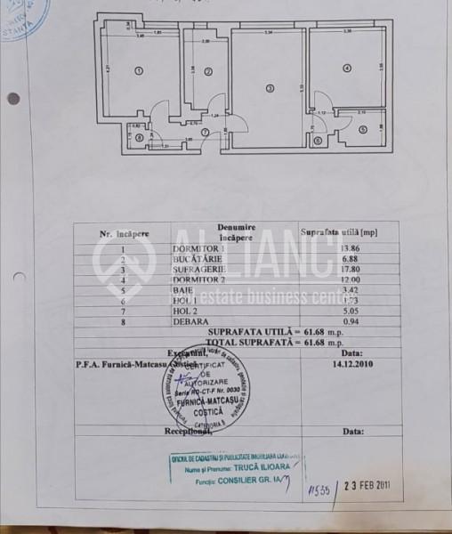 CENTRU - LICEUL TRAIAN - Apartament 3 camere parter