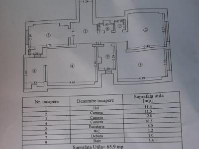 TOMIS MALL - Apartament 3 camere decomandat cu centrala gaz