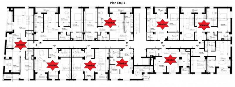 Elvila-2 camere 49,13mp+3,84mp balcon+loc parcare subterana Comision 0%